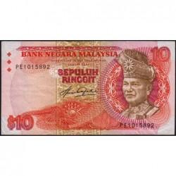Malaisie - Pick 21 - 10 ringgit - Série PE - 1983 - Etat : TB