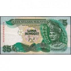 Malaisie - Pick 28c - 5 ringgit - Série PC - 1991 - Etat : SUP-
