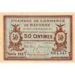 Bayonne - Pirot 21-8 - 50 centimes - Série EEE - 16/01/1915 - Etat : SUP
