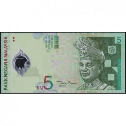 Malaisie - Pick 47_1 - 5 ringgit - Série CA - 2004 - Polymère - Etat : NEUF
