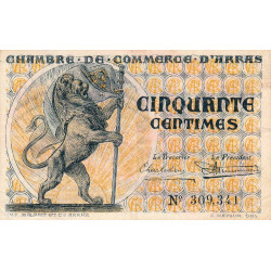Arras - Pirot 13-4 - 50 centimes - Sans date - Etat : TTB
