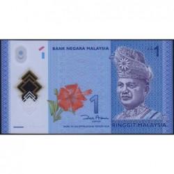 Malaisie - Pick 51a - 1 ringgit - Série BW - 2012 - Polymère - Etat : NEUF