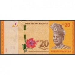 Malaisie - Pick 54a - 20 ringgit - Série AB - 2012 - Etat : pr.NEUF