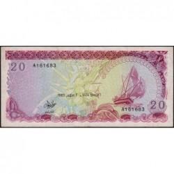 Maldives - Pick 12a - 20 ruffiyaa - Série A - 07/10/1983 - Etat : TB+