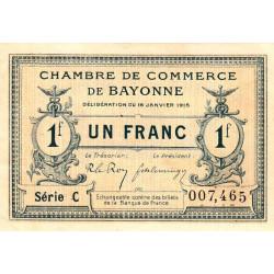 Bayonne - Pirot 21-9a - 1 franc - Série C - 16/01/1915 - Etat : SPL