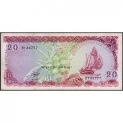 Maldives - Pick 12b - 20 ruffiyaa - Série B - 25/08/1987 - Etat : TB+