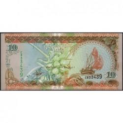 Maldives - Pick 19a - 10 ruffiyaa - Série C - 25/06/1998 - Etat : NEUF