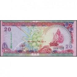 Maldives - Pick 20b - 20 ruffiyaa - Série C - 11/11/2000 - Etat : TTB