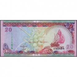 Maldives - Pick 20c - 20 ruffiyaa - Série E - 29/12/2008 - Etat : pr.NEUF