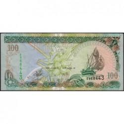 Maldives - Pick 22b - 100 ruffiyaa - Série E - 11/11/2000 - Etat : TTB