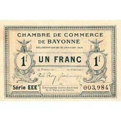 Bayonne - Pirot 21-15a - 1 franc - Série EEE - 16/01/1915 - Etat : SPL
