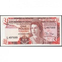 Gibraltar - Pick 20d - 1 pound - Série L - 21/10/1986 - Etat : NEUF