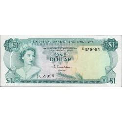 Bahamas - Pick 35a_2 - 1 dollar - Série E/1 - Loi 1974 - Etat : TTB+