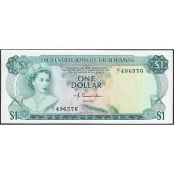 Bahamas - Pick 35a_2 - 1 dollar - Série C/1 - Loi 1974 - Etat : SUP