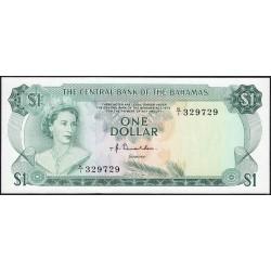Bahamas - Pick 35a_2 - 1 dollar - Série K/1 - Loi 1974 - Etat : SPL