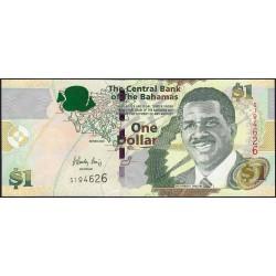 Bahamas - Pick 71_1 - 1 dollar - Série S - 2008 - Etat : SPL