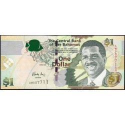Bahamas - Pick 71_2 - 1 dollar - Série AM - 2008 - Etat : NEUF