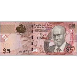 Bahamas - Pick 72 - 5 dollars - Série B - 2007 - Etat : NEUF