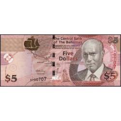 Bahamas - Pick 72 - 5 dollars - Série D - 2007 - Etat : SPL