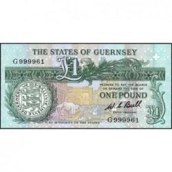 Guernesey - Pick 48a - 1 pound - Série G - 1980 - Etat : NEUF