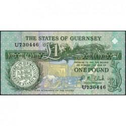 Guernesey - Pick 52c - 1 pound - Série U - 2004 - Etat : pr.NEUF