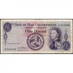 Man (île de) - Pick 25b - 1 pound - Série C - 1967 - Etat : TB-