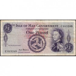 Man (île de) - Pick 29a - 1 pound - Série D - 1972 - Etat : TB-
