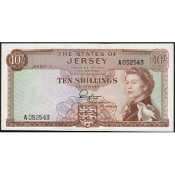 Jersey - Pick 7 - 10 shillings - 1963 - Série A - Etat : TTB+
