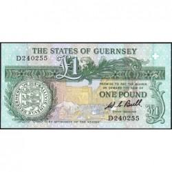 Guernesey - Pick 48a - 1 pound - Série D - 1980 - Etat : NEUF