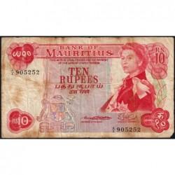 Maurice (île) - Pick 31a - 10 rupees - Série A/4 - 1967 - Etat : B+