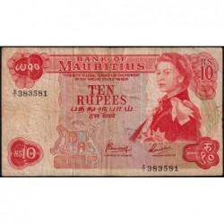 Maurice (île) - Pick 31cr (remplacement) - 10 rupees - Série Z/1 - 1974 - Etat : TB-