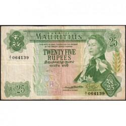 Maurice (île) - Pick 32a - 25 rupees - Série A/1 - 1967 - Etat : TB