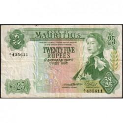 Maurice (île) - Pick 32a - 25 rupees - Série A/1 - 1967 - Etat : TB+