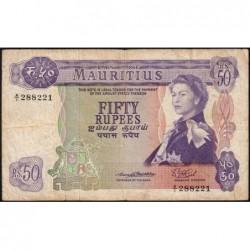 Maurice (île) - Pick 33a - 50 rupees - Série A/1 - 1967 - Etat : TB