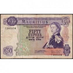Maurice (île) - Pick 33b - 50 rupees - Série A/2 - 1970 - Etat : TB