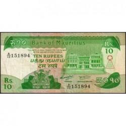 Maurice (île) - Pick 35a - 10 rupees - Série A/10 - 1985 - Etat : TB+