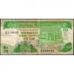 Maurice (île) - Pick 35a - 10 rupees - Série A/13 - 1985 - Etat : TB