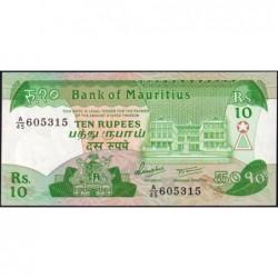 Maurice (île) - Pick 35a - 10 rupees - Série A/45 - 1985 - Etat : NEUF