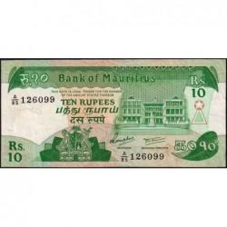 Maurice (île) - Pick 35b - 10 rupees - Série A/85 - 1985 - Etat : TTB