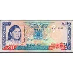Maurice (île) - Pick 36 - 20 rupees - Série AA - 1992 - Etat : pr.NEUF