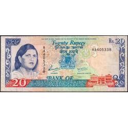 Maurice (île) - Pick 36 - 20 rupees - Série AA - 1992 - Etat : TTB-
