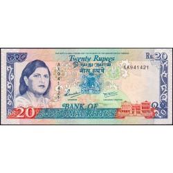 Maurice (île) - Pick 36 - 20 rupees - Série AA - 1992 - Etat : NEUF