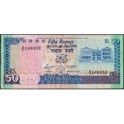 Maurice (île) - Pick 37a - 50 rupees - Série A/6 - 1986 - Etat : TB+