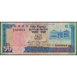 Maurice (île) - Pick 37a - 50 rupees - Série A/8 - 1986 - Etat : TB
