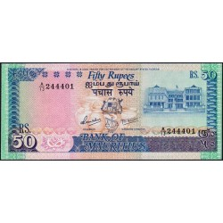 Maurice (île) - Pick 37a - 50 rupees - Série A/13 - 1986 - Etat : pr.NEUF