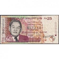 Maurice (île) - Pick 42 - 25 rupees - Série BA - 1998 - Etat : TB-