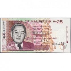 Maurice (île) - Pick 42 - 25 rupees - Série BB - 1998 - Etat : NEUF