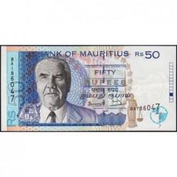 Maurice (île) - Pick 43 - 50 rupees - Série BA - 1998 - Etat : SUP+