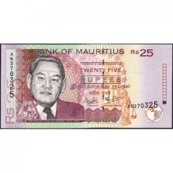 Maurice (île) - Pick 49a - 25 rupees - Série AN - 1999 - Etat : NEUF