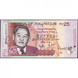 Maurice (île) - Pick 49b - 25 rupees - Série AT - 2003 - Etat : NEUF